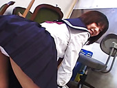 Tasty looking Japanese girl Rino Sayaka  upskirt view