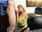 Blondie mature whore pleases her boss