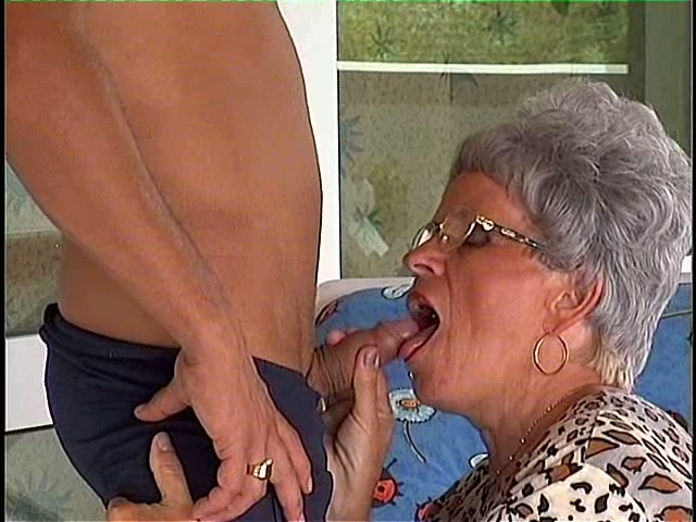 blowjob Granny giving