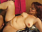 Insatiable red-haired mature Gina Delvaux gets poked by young wanker