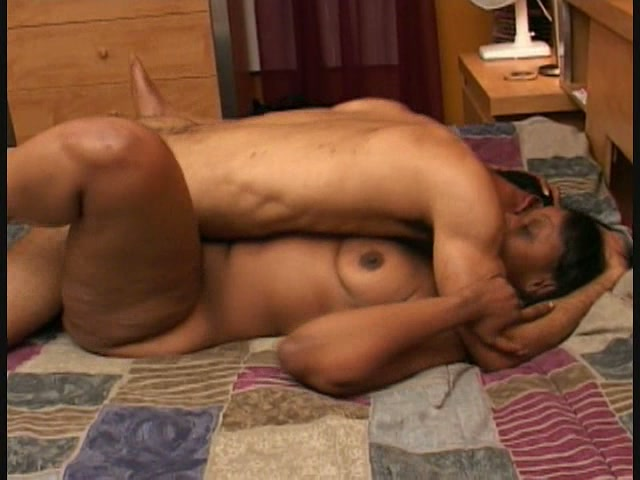 Aroused guy deeply and sensually fucks ebony ass