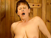 Hot tempered busty mature slut Stephanie hops on a hard cock