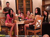 Horny guys join the girlie birthday party