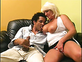 Rapacious blond mama Dana Hayes gets her spoiled pussy tongue fucked