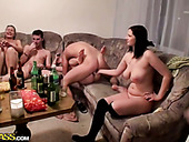 Czech students have an impressive and hot orgy party in the dorm