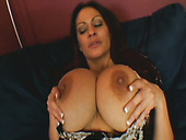Lustful whore Ava with huge fake boobs sucks the dick deepthroat