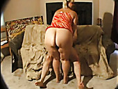 Fat blonde cougar Pauline getting pounded by a mature dude
