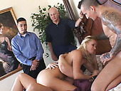 Divine bitch Totally Tabatha has one dick in her mouth and another in her ass