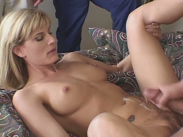 image Lovely blonde seduces his hung dad
