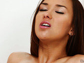 Tongue job for sextractive brunette Victoria Sweet