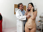 Rapacious doctor mauls quaggy tits of seductive mom Nadezda