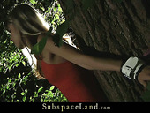 Doris Ivy bondaged in the woods