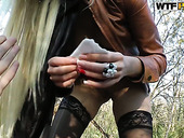 Outdoor hoochie Dona likes it deeper in her throat