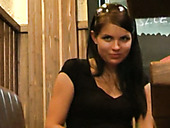 Zuzinka playing with her insatiable pussy in public place