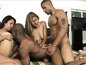 Wild bisexual foursome with tons of fuck fun