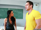 Seductive MILF teacher Vanilla DeVille seduces her student at the college