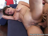Mature hottie Cori Gates gets her asshole worked over by young man