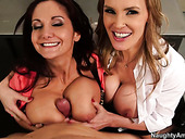 Ava Addams and Tanya Tate get their pussies licked by one lucky dude