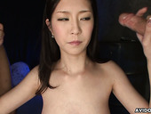 Tasty looking Kotone Amemiya gives double blowjob
