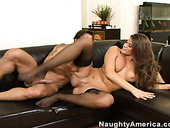 Hot Latino Madelyn Marie rides on cock fiercely