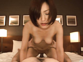 Bosomy Japanese cutie NENE IINO gets her pussy drilled in missionary