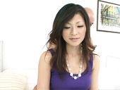 Rapacious daddy teases bearded pussy of RYO SASAKI with fingers
