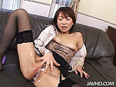 Dirty mouth of spoiled mom Jun Kusanagi gets sprayed with cum