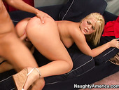 Noisy blonde slut Alexis Texas is hammered brutally doggy style