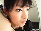 Sizzling Japanese cutie Mio Kanna gives double blowjob
