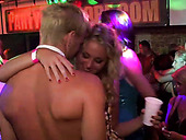 Drunk white sluts dance in dirty way with beefy strippers