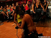 Wild club sex party with male stripper